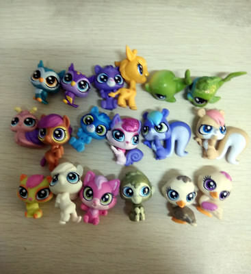 Random 10x 1'' Littlest pet shop LPS Mini Animals Cat Figure Toys Kids Baby Doll