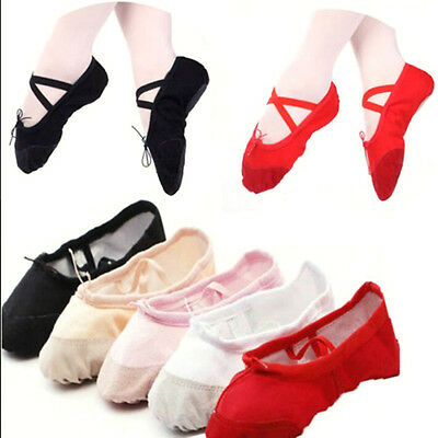 Child Adult Canvas Ballet Dance Shoes Slippers Pointe Dance Gymnastics New Hot