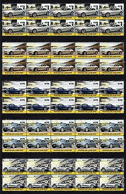 2009 Bmw Z4 Set Of 5 Mint Stamp Strips