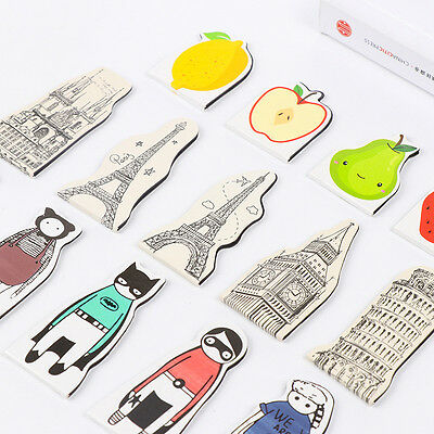 Cute Fruit Colorful Magnetic Bookmarks Tower Cartoon Characters Mini Book Clip