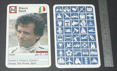 Carte Coureur Automobile 1984 Formule 1 Grand Prix F1 Mauro Baldi Spirit