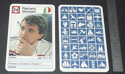 Carte Coureur Automobile 1984 Formule 1 Grand Prix F1 Piercarlo Ghinzani Osella