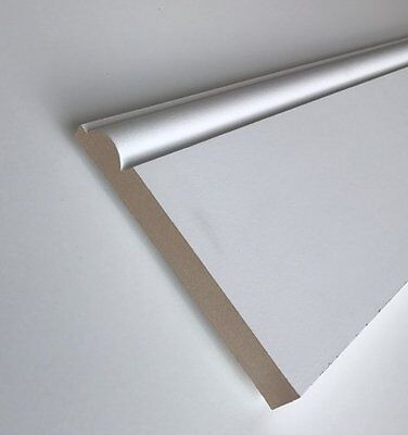 MDF White Primed Torus Skirting Board / Architrave (Various Size and Lengths)