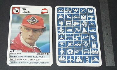 CARTE COUREUR AUTOMOBILE 1984 FORMULE 1 GRAND PRIX F1 NIKI LAUDA Mc LAREN
