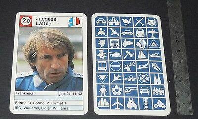 Carte Coureur Automobile 1984 Formule 1 Grand Prix F1 Jacques Laffite Williams