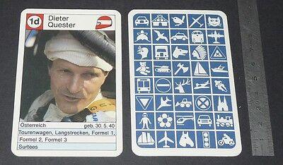 Carte Coureur Automobile 1984 Formule 1 Grand Prix F1 Dieter Quester Surtees