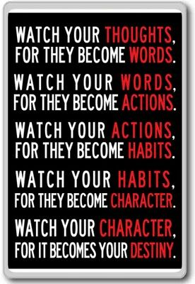 Watch Your Thoughts – motivational quotes fridge magnet