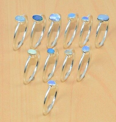 Wholesale 11Pc 925 Sterling Silver Natural Australian & Ethiopan Opal Ring Lot