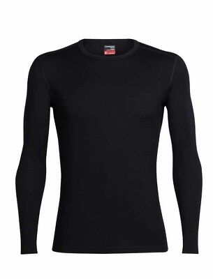 Icebreaker Tech Lite Long Sleeve Crewe Men Langarm Baselayer ShirtSchwarz
