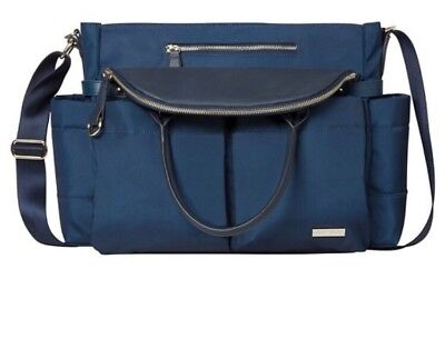 New Skip hop downtown Chelsea satchel changing bag midnight blue -RRP:£94.95