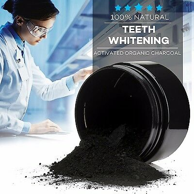 100% Natural Organic Activated Charcoal Teeth Whitening Powder