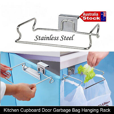Kitchen Cupboard Hanging Rubbish Garbage Waste Bag Holder Bracket Racks Hanger