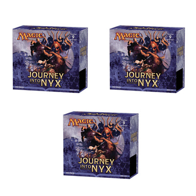 3x Journey Into Nyx Fat Pack Magic the Gathering MTG - 645 Cards + Deck Boxes