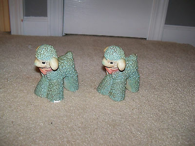 LOT OF 2 Vintage Chalk Chalkware 1940's Painted  Lambs Carnival Prize Figure