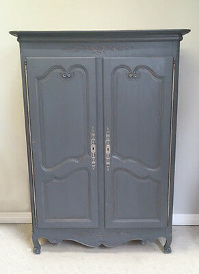Superb Old French Louis Xv Style Double Door Armoire