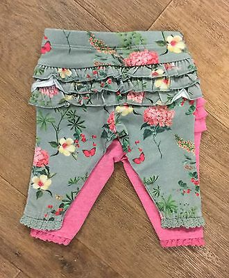 Next Two Pack Frill Bottom leggings Up To 3 Months  New