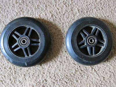 """5"""" Anti-Tip Wheel Tire Assembly 5/16"""" center hole 608RS bearing scooter chair"""