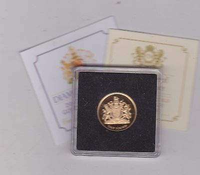 2012 Jersey Boxed Proof Gold £1 Coin Diamond Jubilee With Certificates