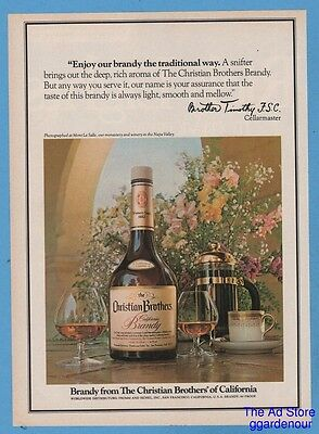 1980 Christian Brothers of California Burgundy Brother Timothy Mont La Salle ad