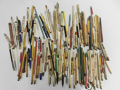 Large Lot Of Vintage Bullet Mechanical And Advertising Pens And Pencils