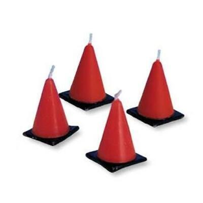 Under Construction Cone Molded Candle Set 6 Pack Boy Party Decoration