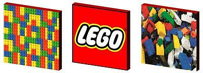 Lego Bricks - Canvas Art Blocks/ Wall Art Plaques/pictures