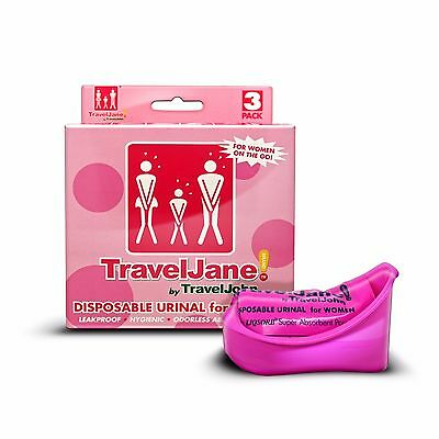 Travel Jane Disposable Festival Urinals for Females - 3 Pack