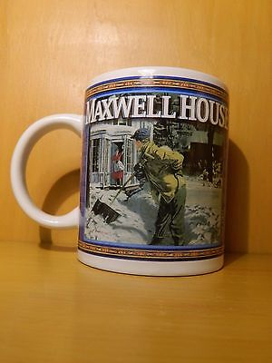 VTG Vintage Maxwell House Blue Coffee Cup GUC