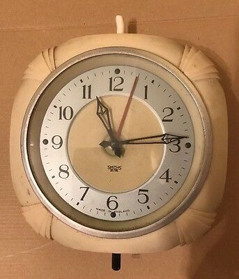 Vintage Smiths Sectric Wall Clock Cream / Ivory Colour 1958-1966