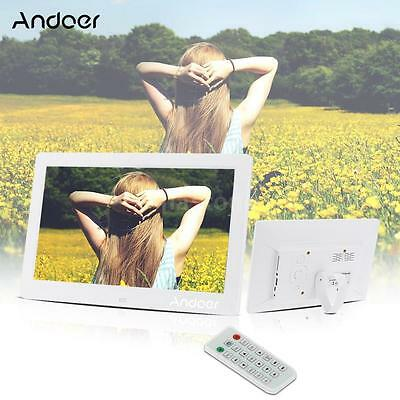 """10.1""""HD LCD Digital Photo Picture Frame Clock Movie Player+Remote Control Y9V3"""