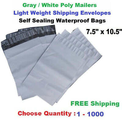 5000 Poly Mailers Shipping Envelopes 7.5x10.5 UPAK Brand+Free Expedited Shipping