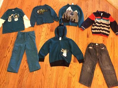 Huge Boys Fall/Winter Shirts and Jeans Mixed Lot, Gymboree, size 4, EUC