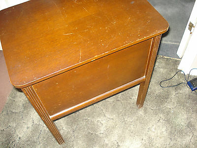 Vintage Wooden Sewing Box / Side Table--Buyer Collects From Milton Keynes