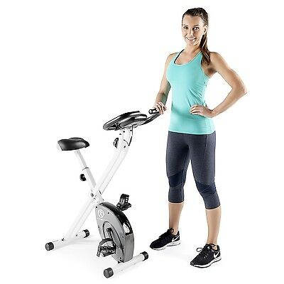 Impex Marcy Foldable Magnetic Resistance Upright Exercise Bike Black/White