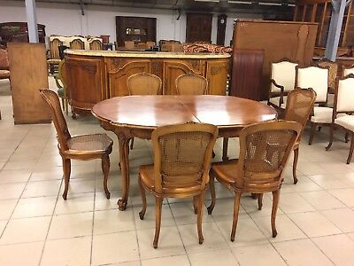 Salle A Manger Style Regence Buffet Table Six Chaises Eur 2 380 00