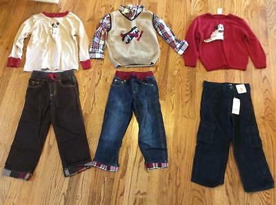 Boys Fall/Winter Outfits Mixed Lot, Puppies and Planes, Gymboree, size 4, EUC
