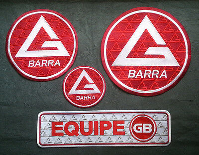 New Premium Gracie Barra Jiu Jitsu Martial Arts 100% Embroidered GB Equipe patch