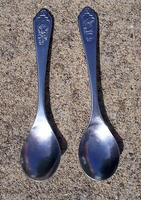 Two 1982 Toucan Sam & Dig Em Spoons, Kellogg Company Cereal National Stainless