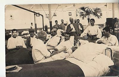 I°WW PC FRANCE Military HOSPITAL with Soldiers-Used Franchise-i469