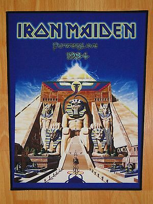 IRON MAIDEN Powerslave BACK PATCH printed NEW heavy metal