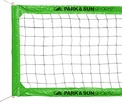 Park & Sun Green BC-400 Pro Steel Cable Volleyball Net