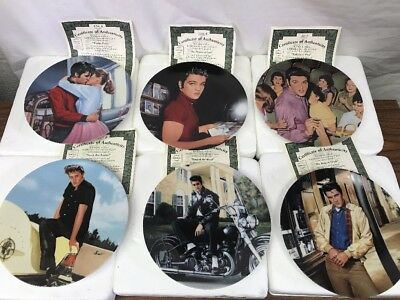 Lot of 6 Elvis Presley: Young and Wild Collector Plates #1-6 With COAs & Boxes