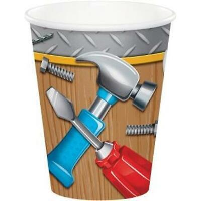 Handyman Tools 9 oz Hot/Cold Paper Cups 8 Pack Boy Birthday Party Decor