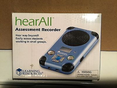 hear all assessment recorder by Learning Resources