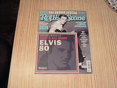 ROLLING STONE JANUAR 2015 mit ELVIS  - That`s all right 7 Inch Vinyl -  NEW !!!