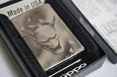 Zippo Lighters lot of 3 Hannya mask from japan, pink zippo , and silver zippo