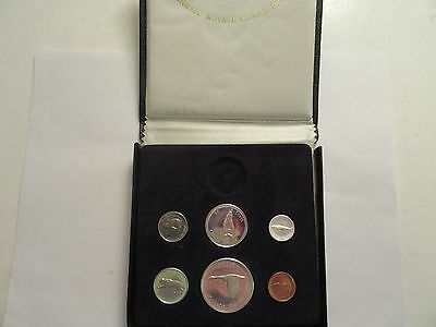 1967 Royal Canadian Mint Proof-Like 6 coin set, 80% silver - Mint box