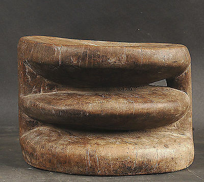 Simple Old Carvers Stool Middle Sepik River  Papua New Guinea