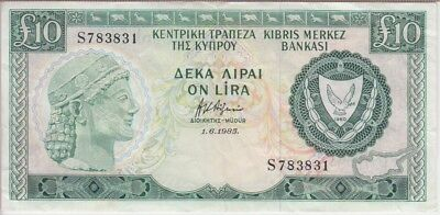 Cyprus Banknote P48-3831 10 Pounds 1.6.1985 Very Fine +