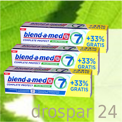 (1,33€/100ml) Blend-a-med Complete Protect 7 Milde Frische 3x100ml #1